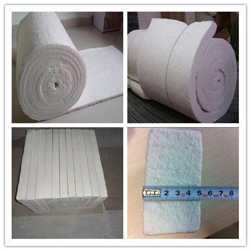 Heat Resistant Insulation 1260 Ceramic Fiber Blanket Al2O3 52% - 55% ISO Certificate