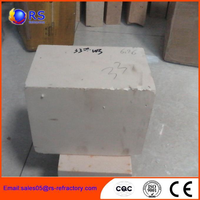 AZS 33 Zirconia Corudum Fire Clay Bricks For Glass Furnace , High Strength