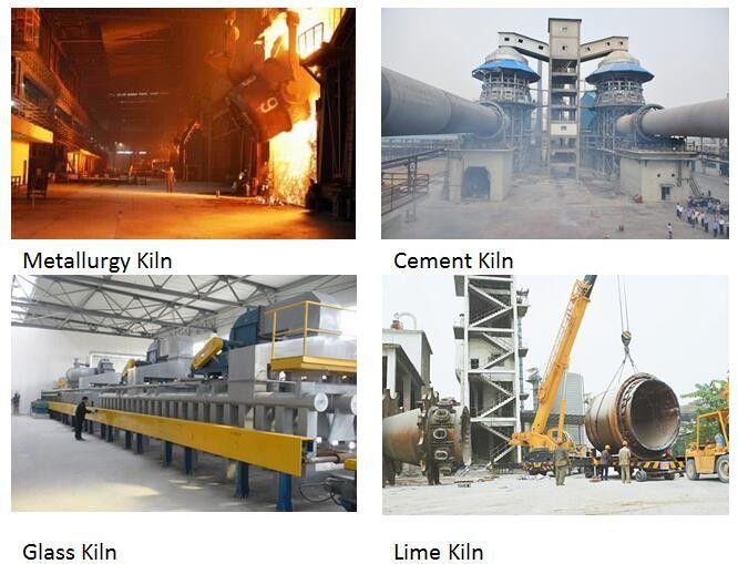 230 X 114 X 65mm High Alumina Refractory Bricks Anti Stripping For Cement Kiln