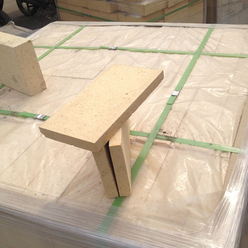 High Density Shaped High Alumina Refractory Brick , Insulated Refractory Fire Bricks