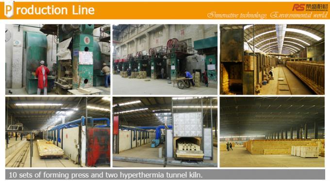 Dry Pressed Ceramic Tunnel Kiln High Alumina Refractory Bricks With High Temperature