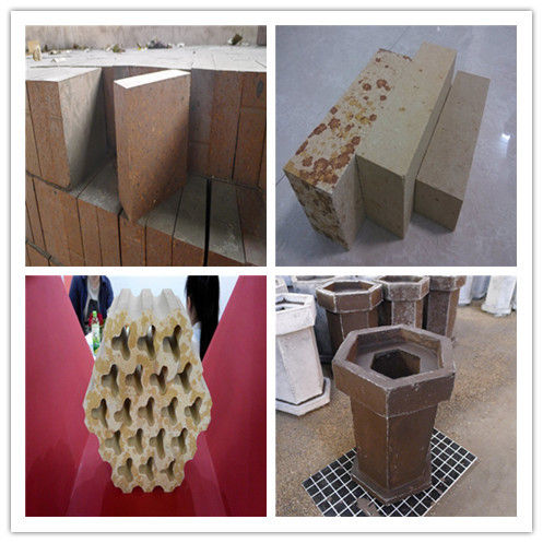 Silicon Mullite Kiln Refractory Bricks for Cooling Zone , Compact and Good Wear Resistance