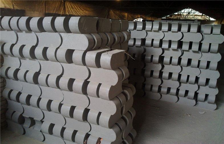 High Temperature Refractory Bricks , Chrome Magnesite Bricks For Converter MgO 82%
