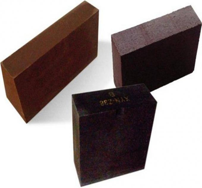 Semi - Bonded Magnesite Chrome Brick Standard Size For Heat Treatment Furnace