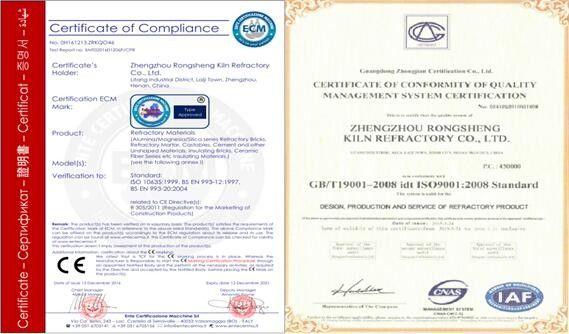 High Temperature Castable Refractory , Steel Fibre Castable Refractory Cement