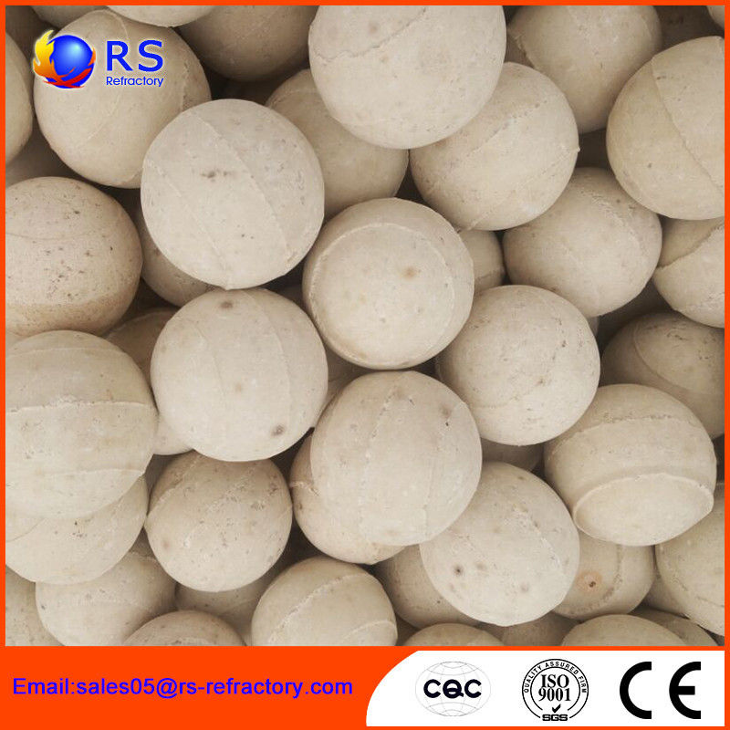 High Strength Refractory Products Refractory Ball Chemical Stability For Cermaic Plant