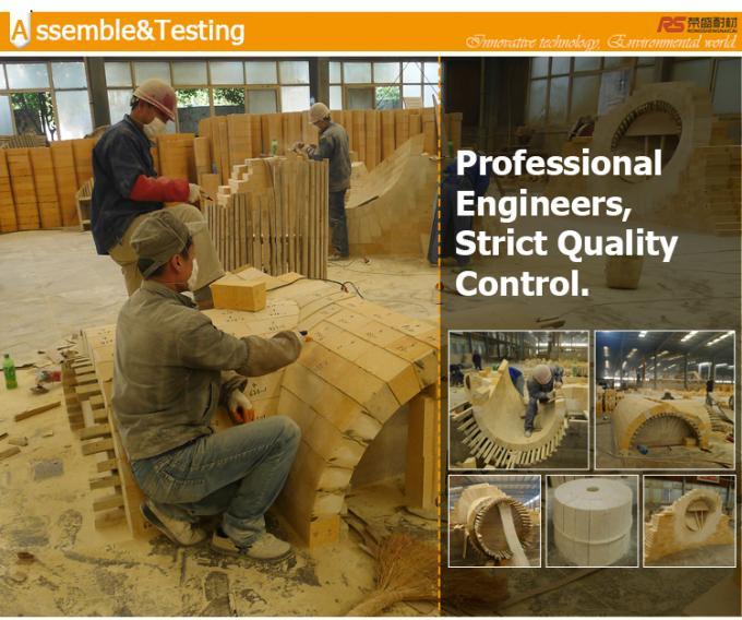Pre - Formed Shaped Big High Alumina Block , Dry Pressed Kiln Refractory Bricks
